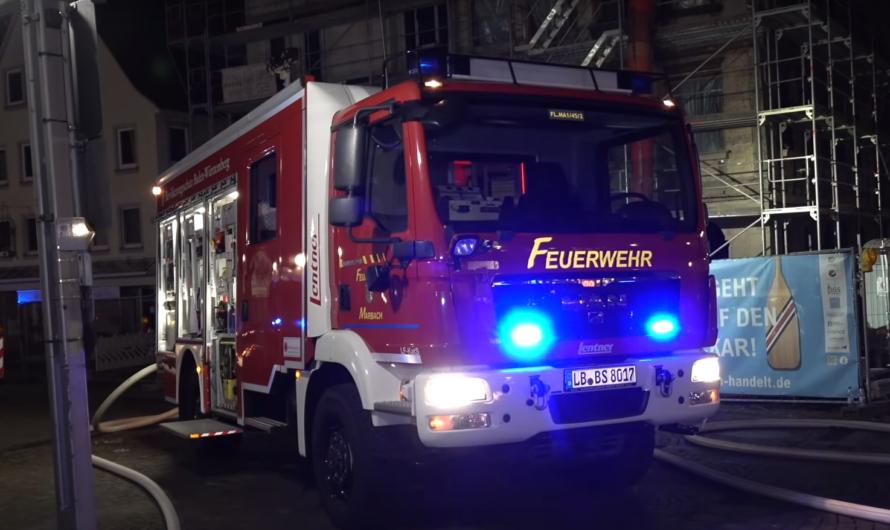 ++🔥 BRANDANSCHLÄGE in MARBACH 🔥++ Polizeirevier – Kirche – Altstadt Gebäude – Großeinsatz Feuerwehr