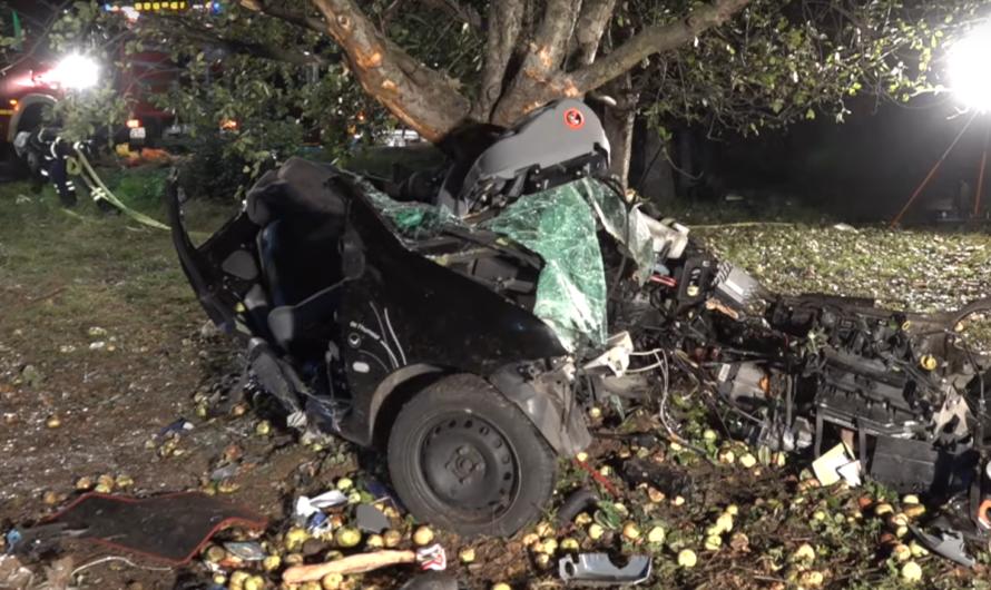 🚨++ schon wieder… MASSIVER UNFALL auf B29 bei WEINSTADT ++ [Erneut Auto um Baum gewickelt] 🚨[E]