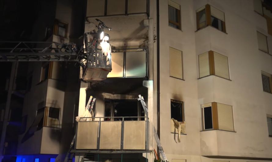 HEIZSTRAHLER VERURSACHT FEUER 🔥🔥 – Feuerwehr Weil der Stadt löscht Wohnungsbrand