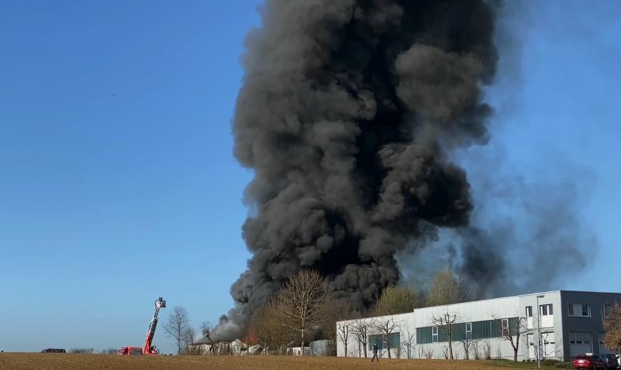 VORSCHAU VIDEO – Großbrand Reutlingen (Mittelstadt) – Werkstatt im Vollbrand