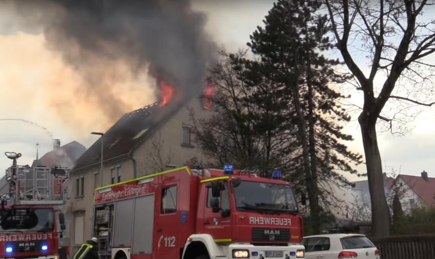 🔥🔥 Feuerinferno in Eislingen 🔥🔥 [2 Drehleitern beim Großbrand] 🚒 Feuerwehr Eislingen + Göppinge