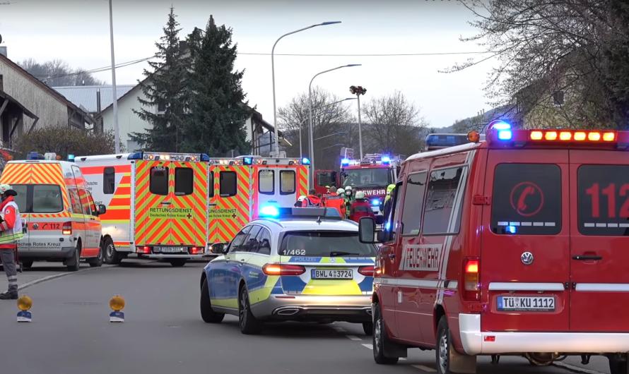 🔥 Wohnungsbrand – Bewohner springt vom Balkon (schwer verletzt) – Feuerwehr Kirchentellinsfurt + 🚒🚒🚒