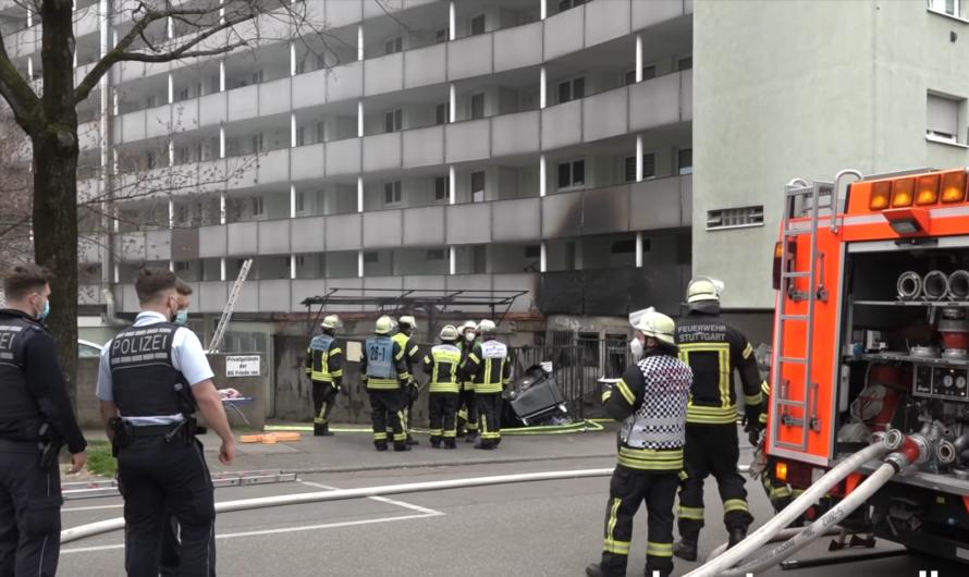 🔥Feuer an 7 stockigen Hochhaus] 🚒 Erhöhung der Alarmstufe für Feuerwehr Stuttgart zum 2. Alarm 🚒