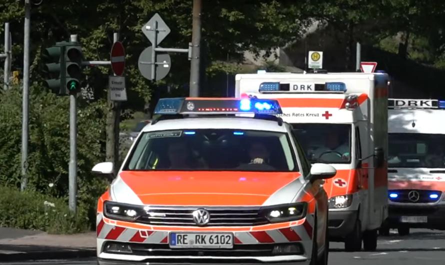 🚨🚨 Anrückende & Abrückende Rettungskräfte 🚑 im Patiententransportzug (PTZ) in Recklinghausen 🚨🚨
