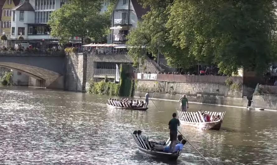 😱 Dramatische Situation – Stocherkahn treibt ins Wehr 😱 ➕ Rettung ➕ 🚒 Feuerwehr Tübingen ➕ DLRG ➕ 🚑