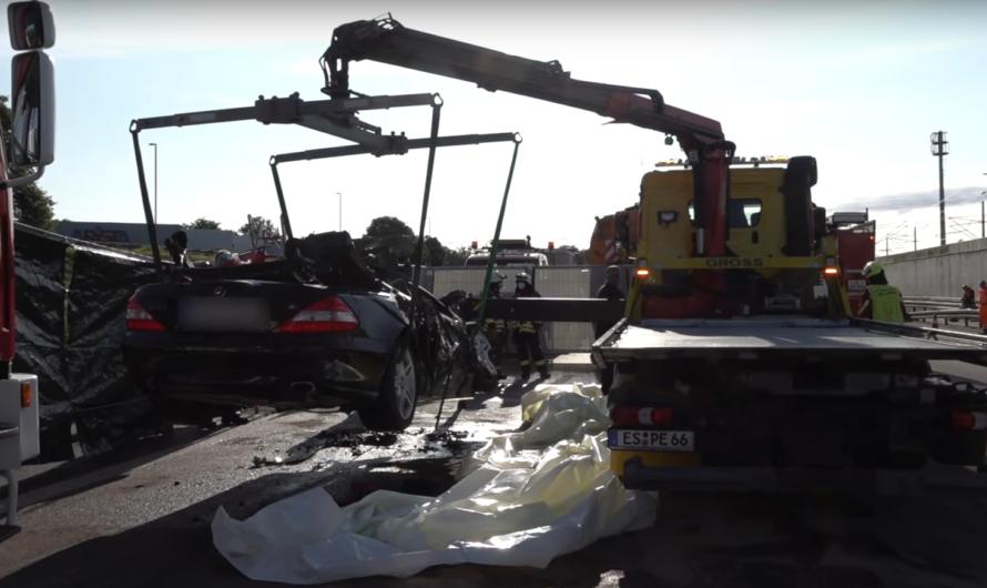 ⛔️ [Tödlicher Crash] A8 ⛔️ PKW rast unter LKW & fängt Feuer 🔥| 🚒 Feuerwehr Nellingen + Laichingen