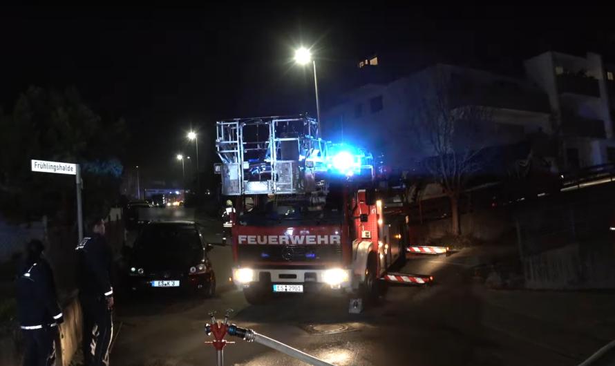 Rauch aus Pelletofen 🚒 Feueralarm in Leinfelden-Echterdingen 🚨 Drehleiter im Einsatz [Archivdoku]