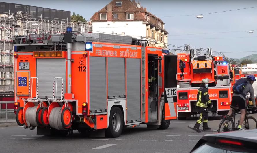 🚓🚑🚒 Gasalarm in der Nordbahnhofstraße Stuttgart 🚓🚑🚒 Chaos im Berufsverkehr auf der Löwentorkreuzung
