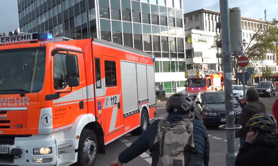 🔥 Feueralarm 🚨 2x Löschzug mit Pressluft durch Rush Hour in der City 🚨 – 🚒 Feuerwehr Stuttgart 🚒
